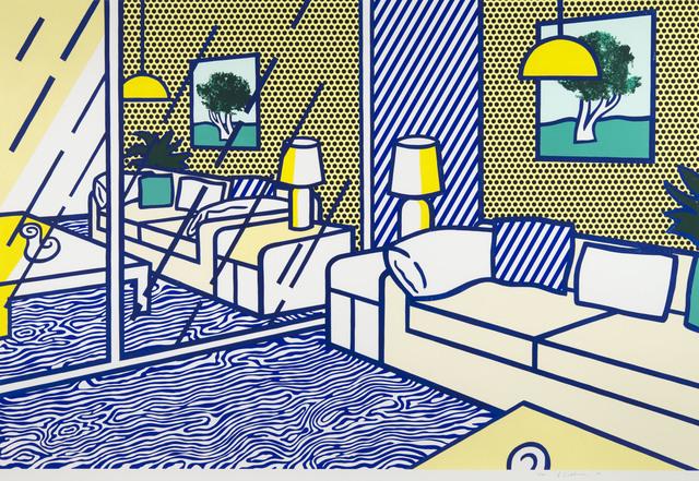 Roy Lichtenstein, 'Blue Floor', 1990, Print, Woodcut and screenprint on museum board, Ronald Feldman Gallery