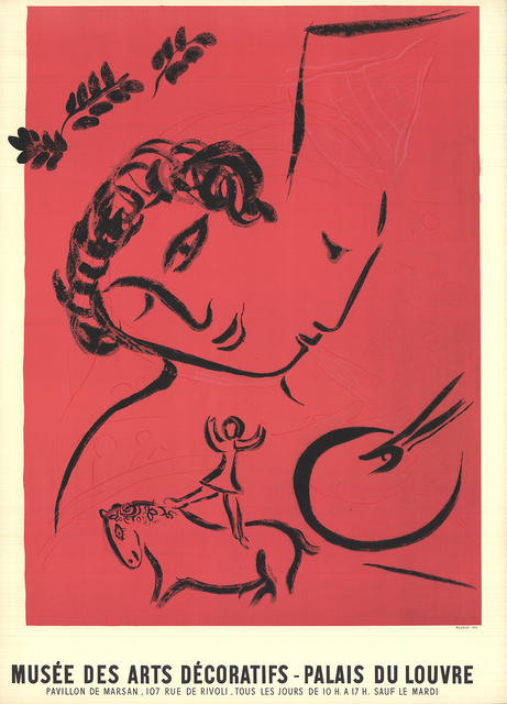 Marc Chagall, 'The Painter In Rose', 1959, Print, Color Lithograph, ArtWise