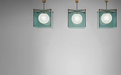 Max Ingrand, 'Set of three ceiling lights, model no. 2073,' 1960s, Phillips: Design