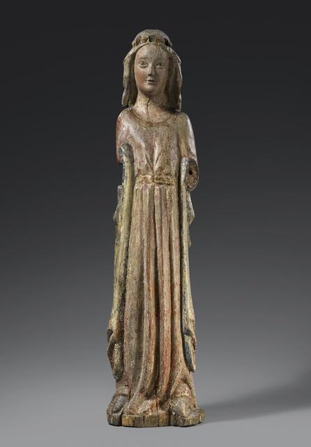 Unknown, 'Coronated Saint', Around 1270, Sculpture, Wood, ELMAR ROBERT, Medieval Art Cologne