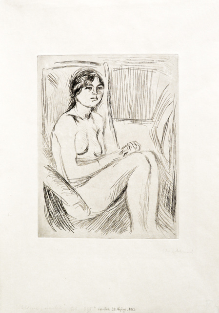 Edvard Munch, 'Celline naken (Celline Nude)', 1912 or 1914, John Szoke