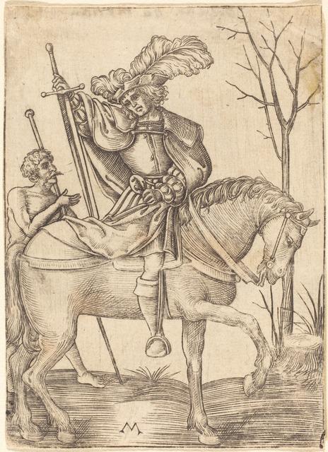 Master M., 'Lansquenet', Print, Engraving, National Gallery of Art, Washington, D.C.