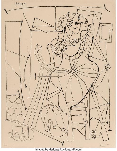 Pablo Picasso, 'L'artiste et l'enfant', 1949, Heritage Auctions
