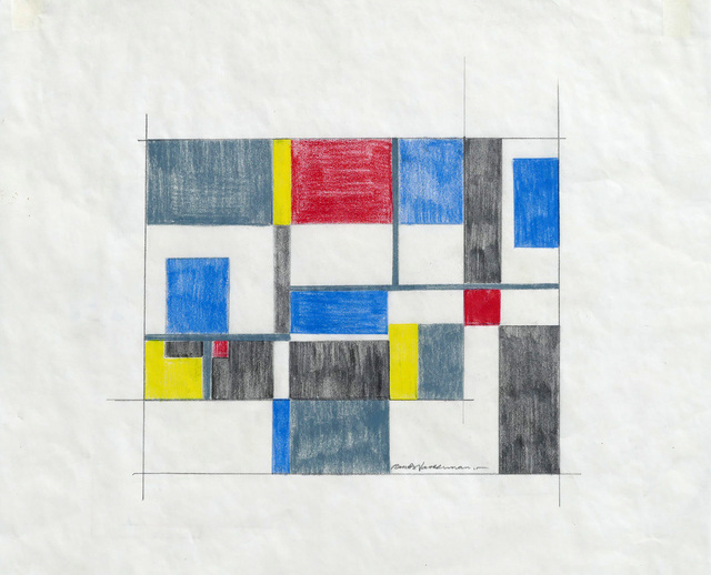 , 'Untitled Mid Century Modern Geometric Abstraction,' ca. 1960, Alpha 137 Gallery