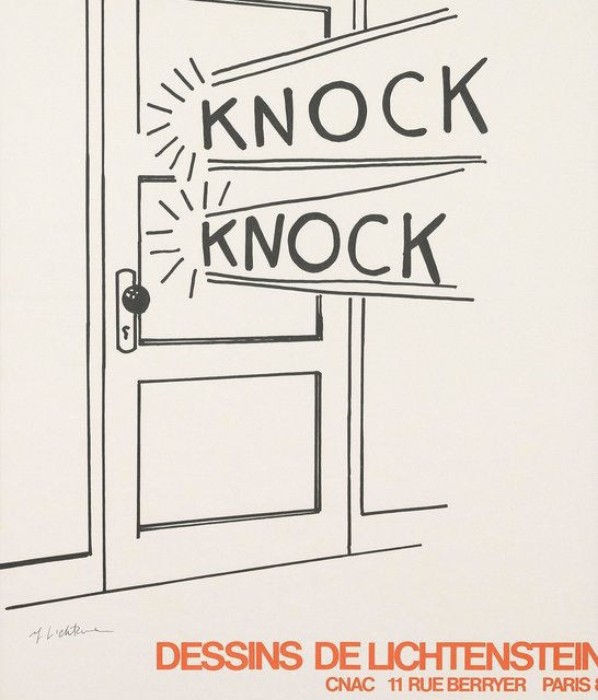 Roy Lichtenstein, 'Knock Knock', 1975, Posters, Offset lithograph on fine paper, Caviar20