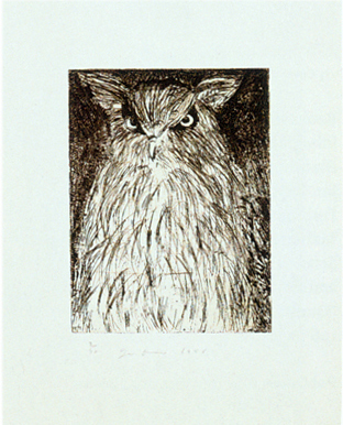 Jim Dine, '9 Studies for Winter Dream (Owl)', 1994, Print, Eau-forte / Etching, Galerie de Bellefeuille
