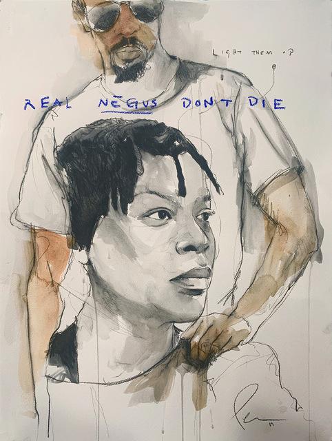 , 'REAL NEGUS DON'T DIE: Light THEM Up (Sandra Bland),' 2019, Lyons Wier Gallery