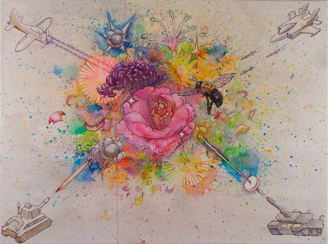 , 'Explosions/Flowers/Fireworks,' 2014, Seraphin Gallery