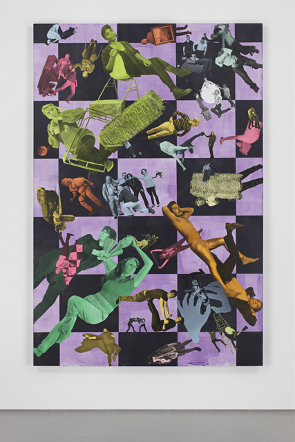 , 'To be titled (purple checks),' 2012, Brand New Gallery