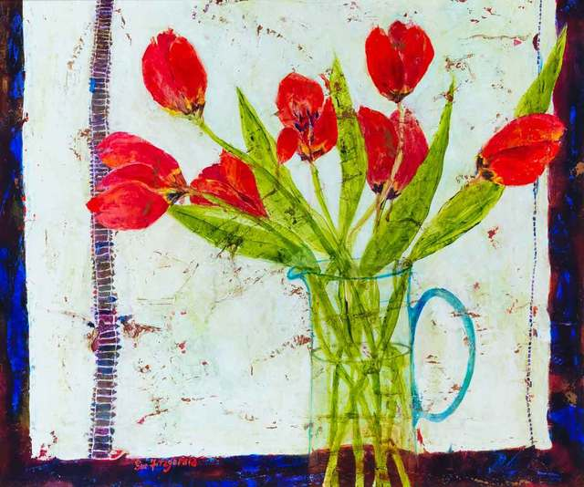 , 'Tulips and Linen,' 2017, Catto Gallery