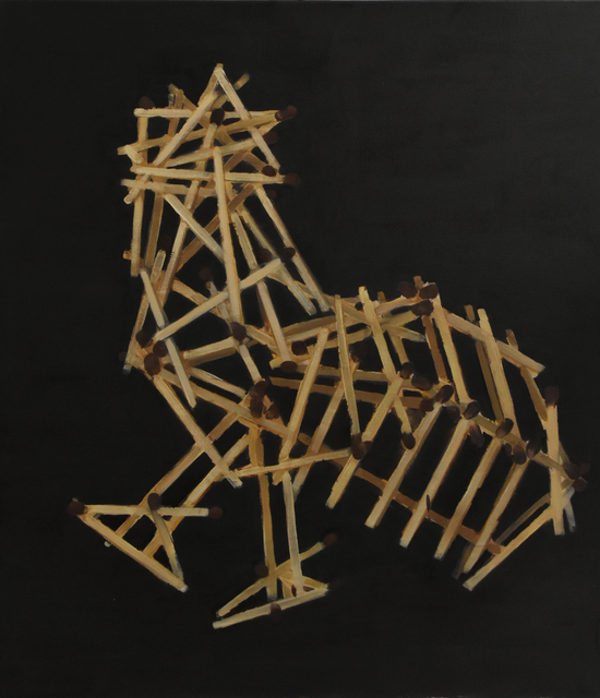 , 'ROOSTER OF MATCHES,' 2017, Meno parkas