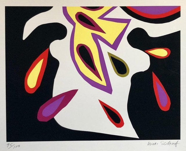 William Scharf, 'Bright Vibrant Pop Art Silkscreen NYC Abstract Expressionist', 1970-1979, Lions Gallery