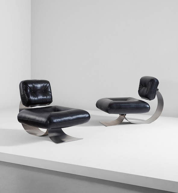 Oscar Niemeyer, 'Pair of lounge chairs', circa 1978, Phillips