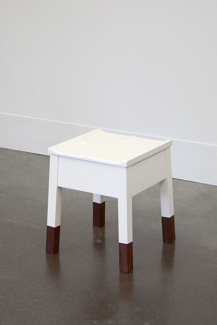 , 'White Caudal Stool with Walnut Legs,' 1989-2014, Lora Reynolds Gallery