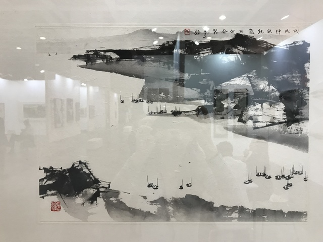 , 'Sweeping Mountains, Drifting Boats 1809-5 (collaboration w/ Eric HO),' 2018, Galerie Koo