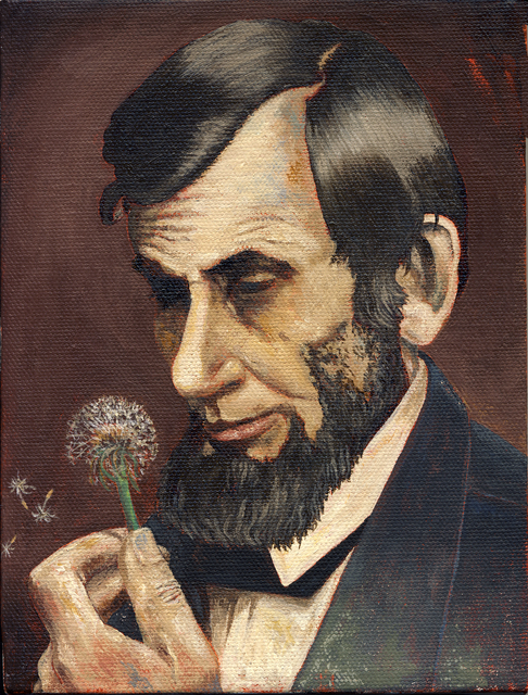 , 'Lincoln with Dandelion ,' 2010, Court Tree Gallery