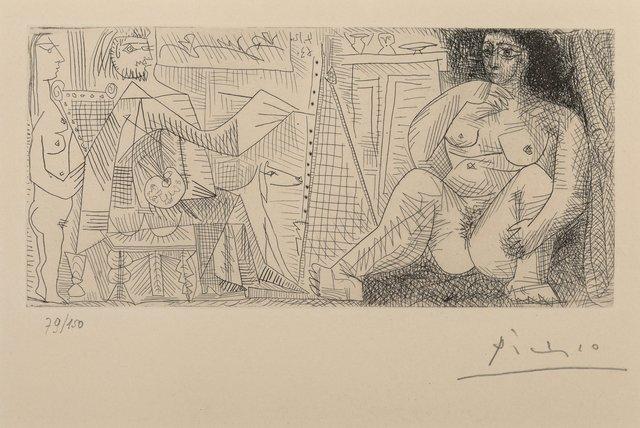 Pablo Picasso, 'Le peintre et son modèle, from Dans l'Atelier', 1963, Heritage Auctions