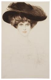 Elegant Lady in a Plumed Hat