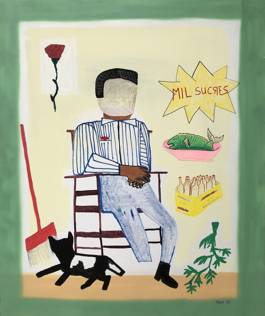 Sebastian Florido, 'Mil Sucres ', 2018, Mixed Media, Spray paint, acrylic, marker and fabric on canvas., Proyecto NASAL