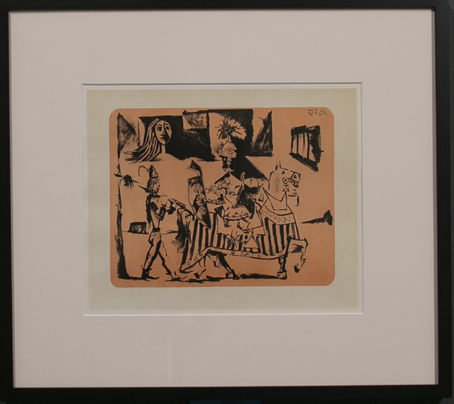 Pablo Picasso, 'DEPARTURE (LE DEPART) 1', 1956, Reproduction, Lithograph, White Cross