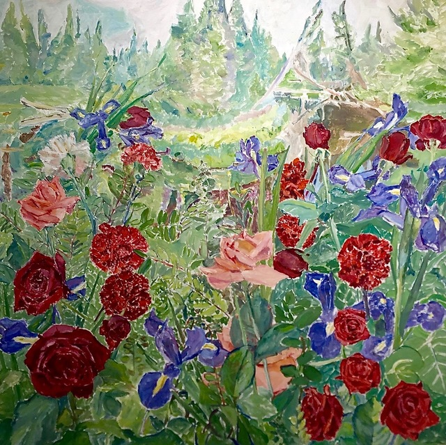 , 'Blue and Red Flowers,' 1983, Nikola Rukaj Gallery