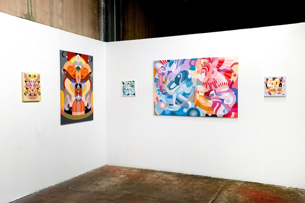 """Fernando Chamarelli (Brazil) """"Multiverses"""" solo exhibition at Anno Domini."""