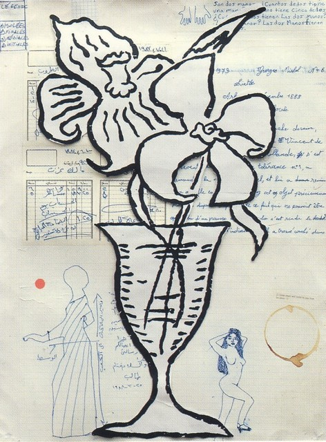 Donald Baechler, 'Flowers', 1993, Print, Silkscreen, BAM