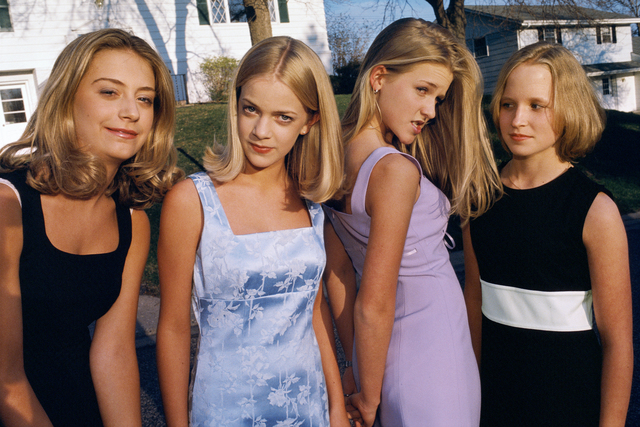 , 'Alli, Annie, Hannah, and Berit, all 13 and members of the popular clique at school, Edina,' 1998, Fahey/Klein Gallery