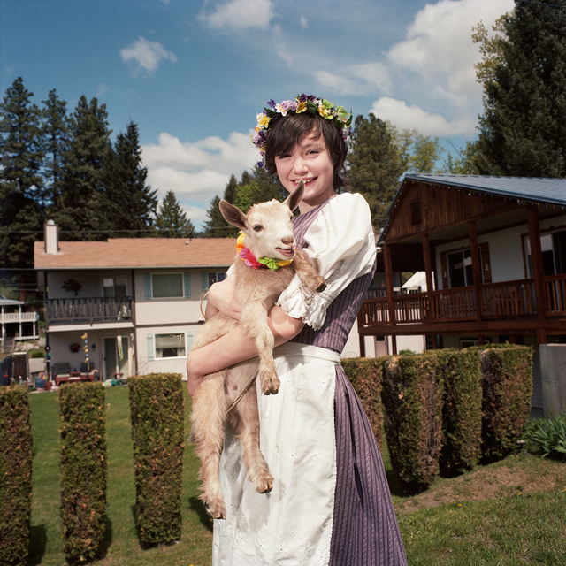 , 'Girl with Goat, Maifest, Leavenworth, Washington,' 2014, Circuit Gallery