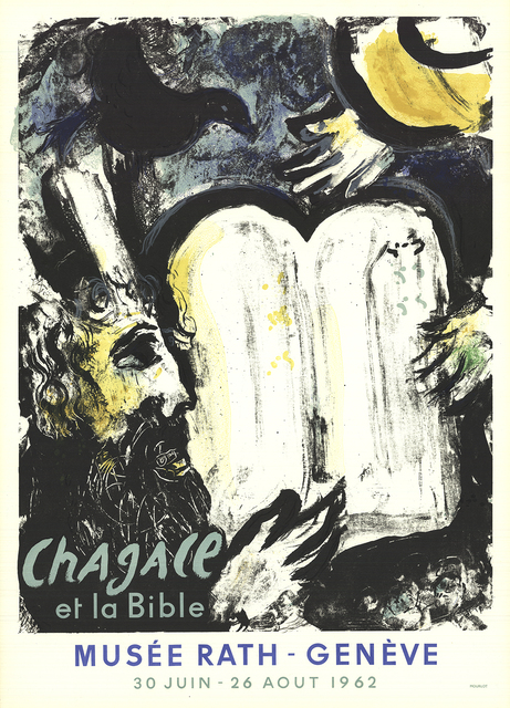 Marc Chagall, 'Moses and the Tablets of the Law', 1962, Print, Color Lithograph, ArtWise
