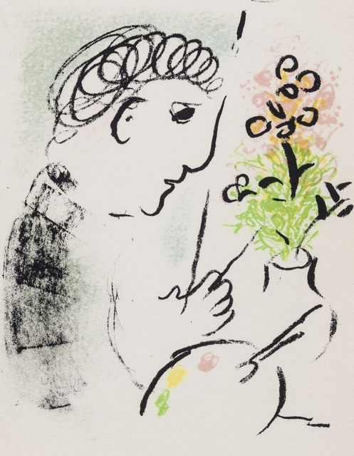 Marc Chagall, 'Carte de Voeux pour L'Année 1979 (Mourlot 951, and 952)', 1979, Print, Two lithographs printed in colours, Forum Auctions