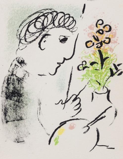 Marc Chagall, 'Carte de Voeux pour L'Année 1979 (Mourlot 951, and 952)', 1979, Print, Two lithographs printed in colours, Forum Auctions