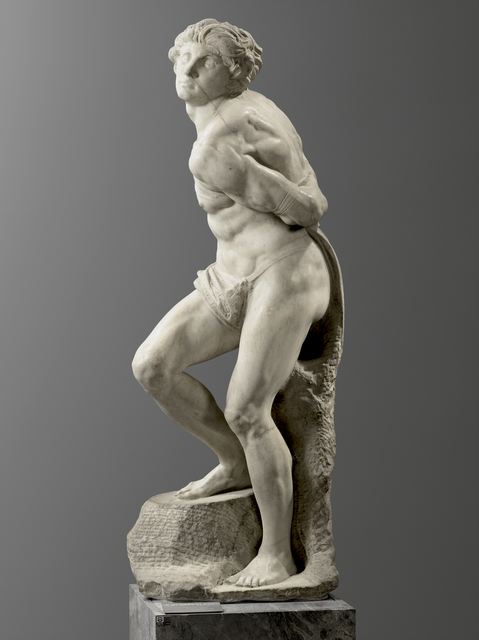 Michelangelo Buonarroti, 'L'Esclave rebelle (The Rebellious Slave)', Started in 1513, Musée du Louvre
