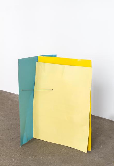 , 'Türkisblau/Rapsgelb/Zinkgelb (Flyer 3-teilig),' 2016-2018, Galerie Elisabeth & Klaus Thoman