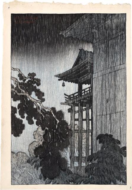 Itō Shinsui, 'Eight Views of Omi: Miidera', 1917, Scholten Japanese Art