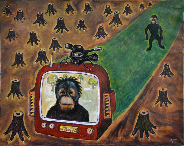 , 'Orangutan on Real TV,' 2012, Rossi & Rossi
