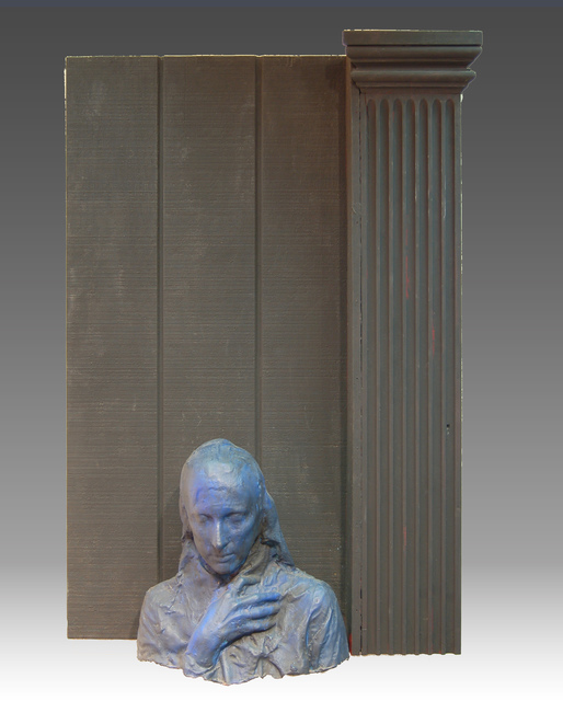 George Segal, 'Woman Next to Black Column', 1981-1988, Miriam Shiell Fine Art