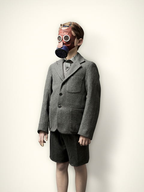 , 'Evacuee with Mickey Mouse Gas Mask,' 2008, KLOMPCHING GALLERY