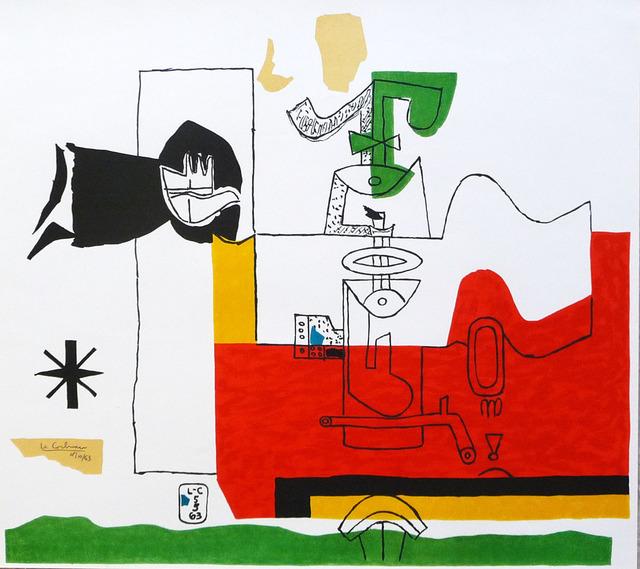 Le Corbusier, 'Totem', 1963, Print, Lithograph in colors, Denis Bloch Fine Art