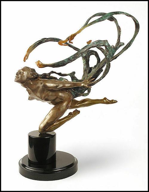 Mary Snowden, 'Wind Scarf', 20th Century, Sculpture, Full Round Bronze Sculpture, Original Art Broker