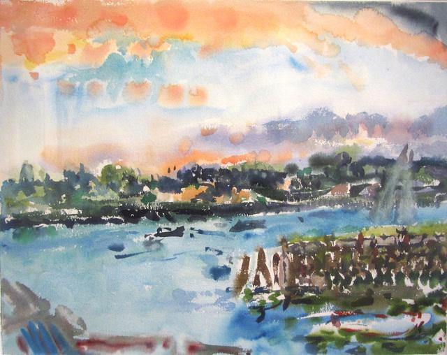 , 'Darkening Sky, Gloucester,' 1974, Reynolds Gallery