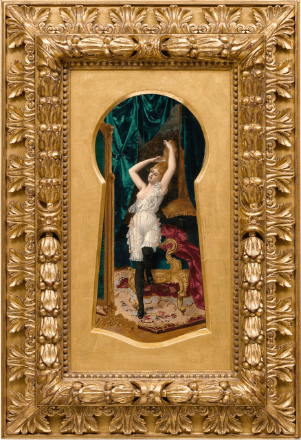 , 'Through the Keyhole,' ca. 1890, M.S. Rau Antiques