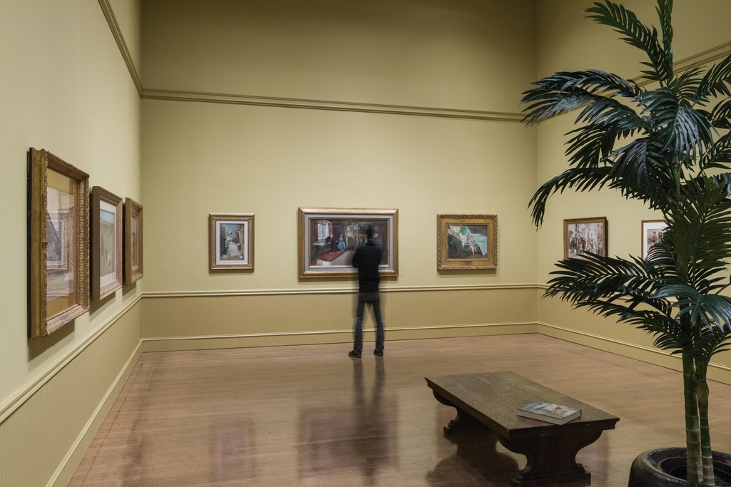 "Installation Photograph of ""American Watercolor in the Age of Homer and Sargent"" Courtesy of the Philadelphia Museum of Art."