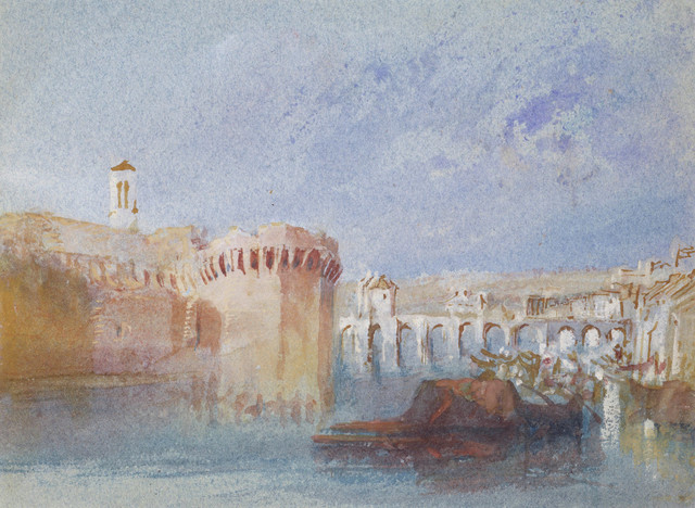 , 'Angers: The Walls of the Doutre with the Tower of the Chu,' ca. 1826, Indianapolis Museum of Art at Newfields