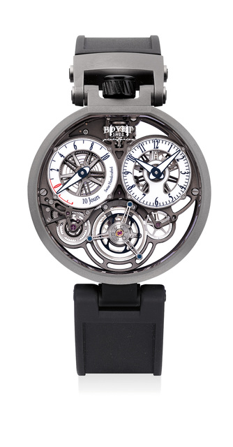 Bovet, 'An attractive limited edition skeletonized titanium 10-day tourbillon wristwatch with certificate of origin and presentation box, numbered 1 of a limited edition of 86 pieces', Circa 2018, Phillips