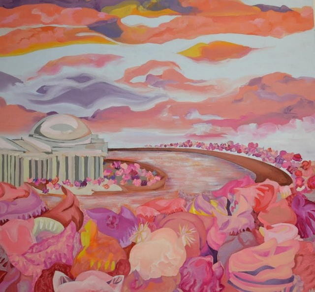 , 'Women's March, Blossoms on the Tidal Basin,' 2017, Zenith Gallery