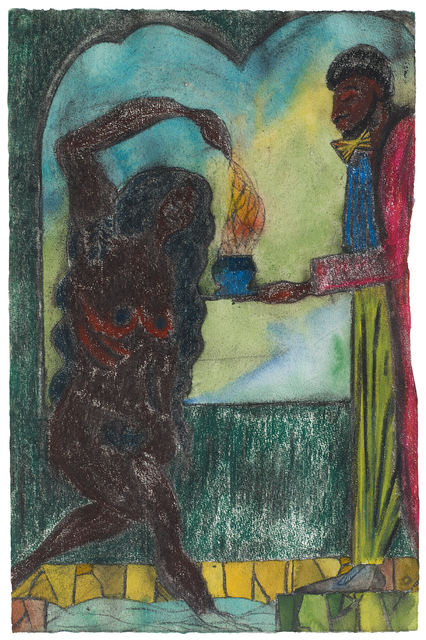 Chris Ofili, 'Poolside Magic 19', 2013, Drawing, Collage or other Work on Paper, Pastel, charcoal and watercolour on paper, Victoria Miro
