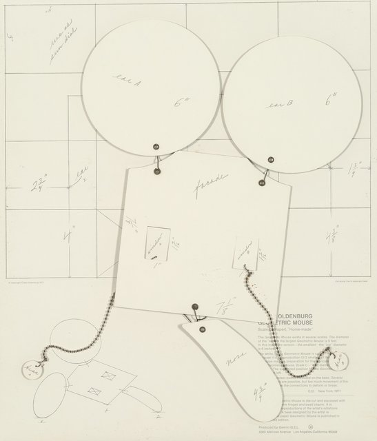 """Claes Oldenburg, 'Geometric Mouse, Scale D (Paper), """"Home-made""""', 1971, Heritage Auctions"""