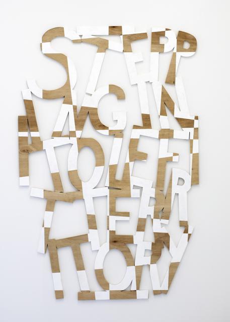 , 'Words 63 (Dazzle Dialectics 5),' 2017, Galerie Bart