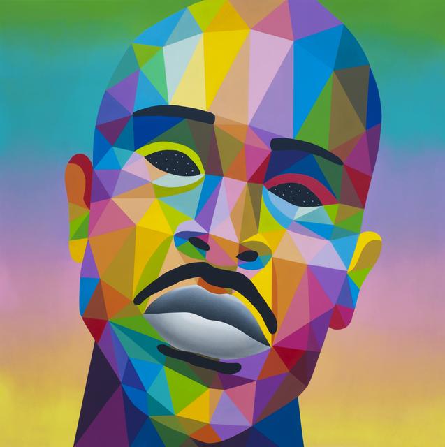 Okuda San Miguel, ' Guru Gangster', 2018, Mirus Gallery